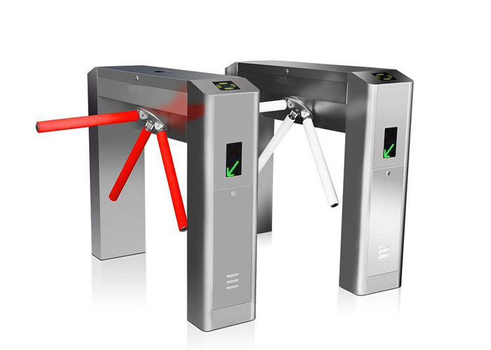 Access Flow Control System Tripod Turnstile Gate Id Card Reader Outdoor Turnstile