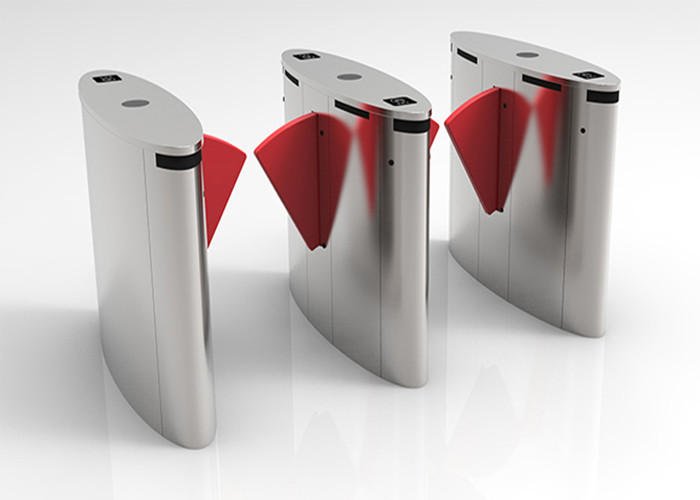 Fingerprint Access Control Flap Barrier Gate Face Recogniton For Ticket Management System